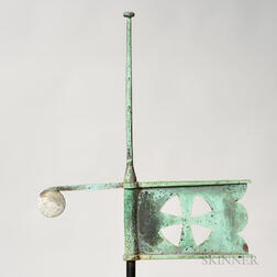 Small Copper and Cast Zinc Bannerette Weathervane