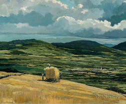 Eric Sloane (American, 1905-1985)      Hay Harvest, Late Summer