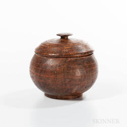 Turned Ash Burl Lidded Bowl