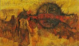J. Sultan Ali (Indian, 1920-1990)      The First Sin