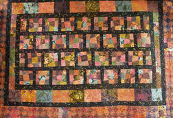 Large Contemporary Hand-sewn Quilt.     Estimate $300-500
