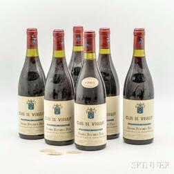 Pierre Bouree Clos Vougeot 1985, 6 bottles