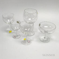 Approximately Ninety-six Pieces of Colorless Stemware