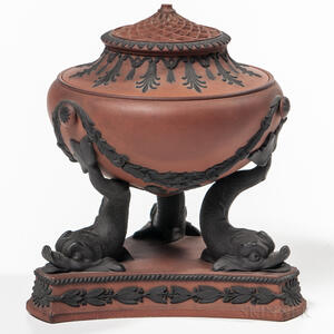 Wedgwood Rosso Antico Pastille Burner and Cover