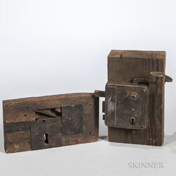 Two 19th Century Steel and Iron Locks