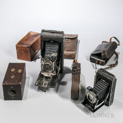 "Kodak No. 1, Bell & Howell ""Filmo Field Model,"" and Two Other Cameras"