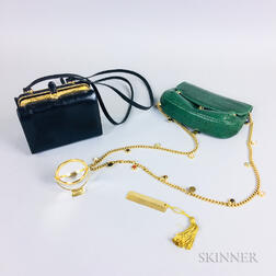 Two Judith Leiber Leather Purses