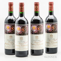 Chateau Mouton Rothschild 1998, 4 bottles