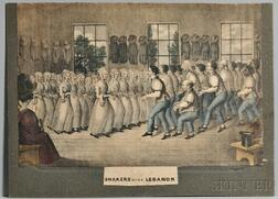 Shaker Dance Lithograph Shakers Near Lebanon