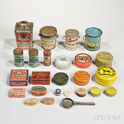Collection of Lithographic Food and Household Tin, Wood, and Paper Containers