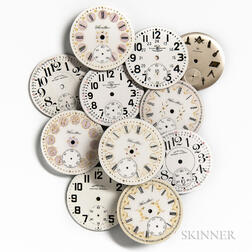 "Group of ""Fancy"" Hamilton Dials and Others"