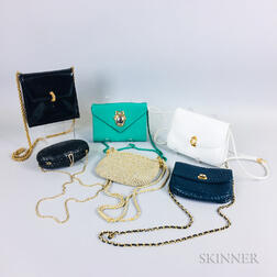 Six Designer Handbags