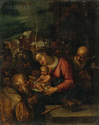Circle of Frans Francken II (Flemish, 1581-1642)      Adoration of the Magi