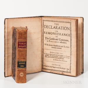England & Wales, Parliamentary Proceedings. The Declaration or Remonstrance of the Lords and Commons, in Parliament Assembled. With Div