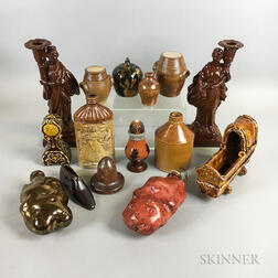 Fifteen English Pottery Items