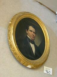 Framed Oil Portrait of a Gentleman of the Heald Family.