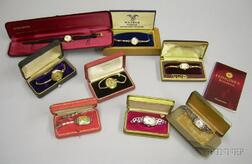 Eight Boxed Ladys Vintage Elgin, Waltham, and Longines Wristwatches.