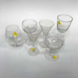 Extensive Group of Colorless Glass Stemware.     Estimate $300-400