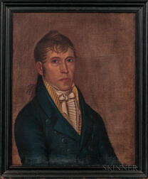 Deacon Robert Peckham (Massachusetts, 1785-1877)      Portrait of James Humphreys Jr.