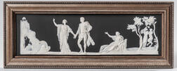 Wedgwood Black Jasper Dip Judgment of Hercules   Plaque