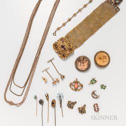 Group of Victorian Costume Jewelry
