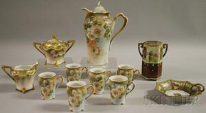 Three Groups of Hand-painted and Transfer-decorated Porcelain Tableware