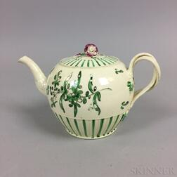 Small Creamware Ceramic Teapot