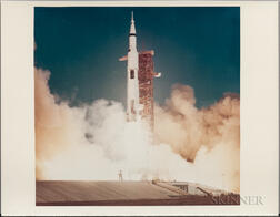 Apollo 11, Liftoff from NASA's Kennedy Space Center Launch Complex 39A (similar to S-69-39777), July 16, 1969.