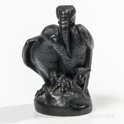 Wedgwood Black Basalt Vultures