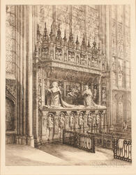 French School, 20th Century    Interior View of Rouen Cathedral