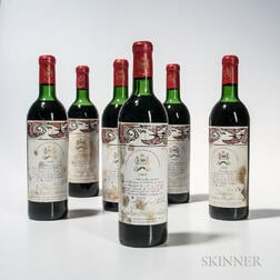 Chateau Mouton Rothschild 1966, 6 bottles