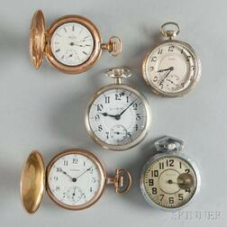 Howard, Two Waltham, and Two Other Pocket Watches