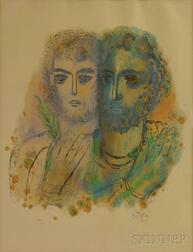 Reuven Rubin (Israeli, 1893-1974)      Lithograph from the Stories of King David