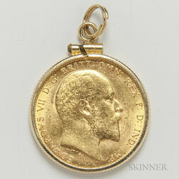 1908-M British Gold Sovereign