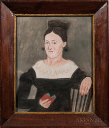 American School, 19th Century      Portrait of Miriam Gobin Shindel