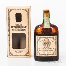 Old Overholt Pure Rye Whiskey 11 Years Old 1921, 1 pint bottle (oc)