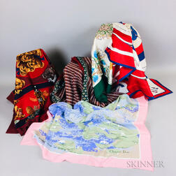 Group of Designer Scarves
