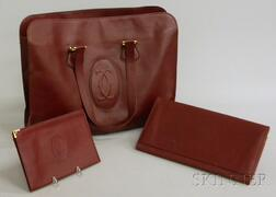 Vintage Cartier Women's Burgundy Leather Tote