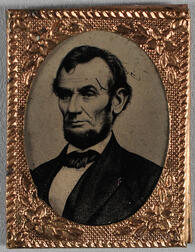 Abraham Lincoln 1864 Campaign Ferrotype Gem-size Badge