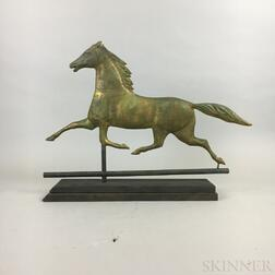 Molded Copper and Cast Zinc Ethan Allen Running Horse Weathervane