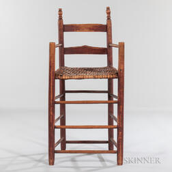 Red-painted Weaver's Chair