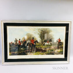 Framed Fores's National Sports Fox-Hunting   Lithograph