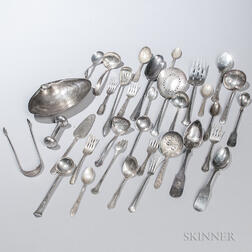 Group of Sterling and Coin Silver and Silver-plated Tableware