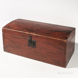 Small Grain-painted Dome-top Trunk