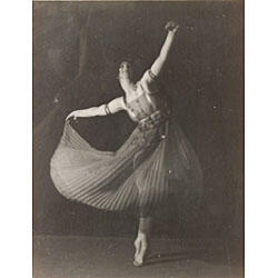 Arnold Genthe (German/American, 1856-1915) Pair of Portraits of Dancers: Unidentified Dancer... and Pavlova(?). Both identified on labe