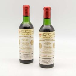 Chateau Cheval Blanc 1966, 2 demi bottles
