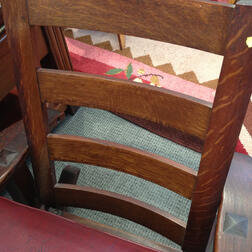 Limbert Arts and Crafts Furniture Model 846 Arm Rocker