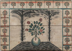 Tree- and Flower-painted Fireboard