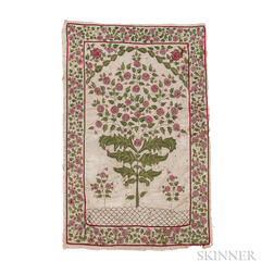 Mughal Embroidered Prayer Rug
