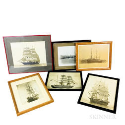 Six Framed Photographs of Sailing Vessels